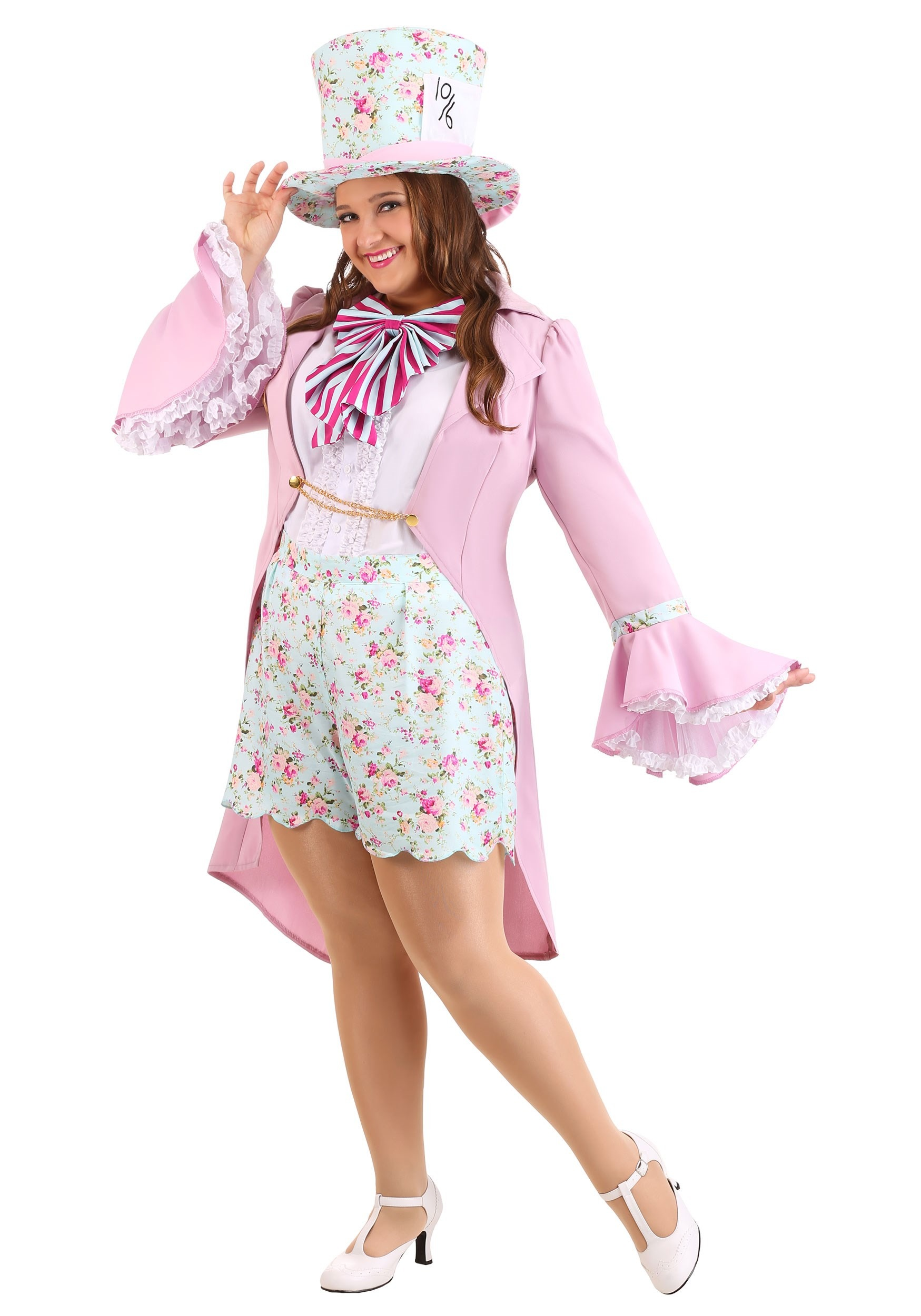 Women's Plus Size Pretty Mad Hatter Costume