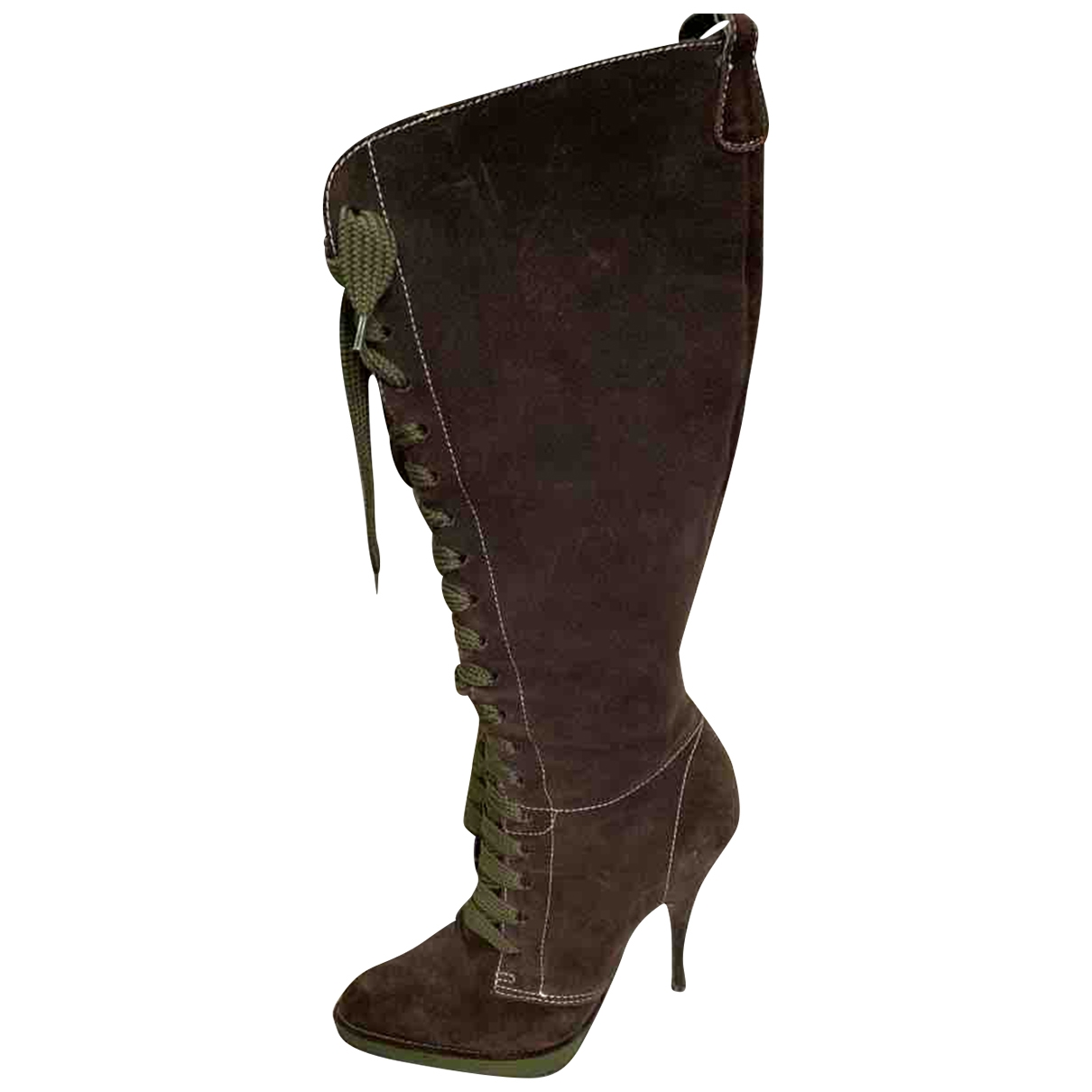 D&g \N Brown Suede Boots for Women 39 EU