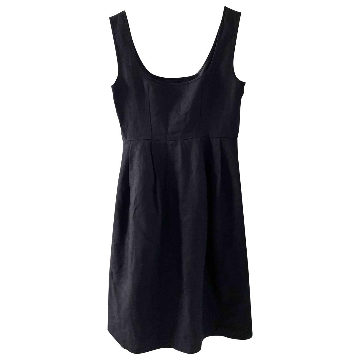Sport Max \N Black Linen dress for Women 40 IT