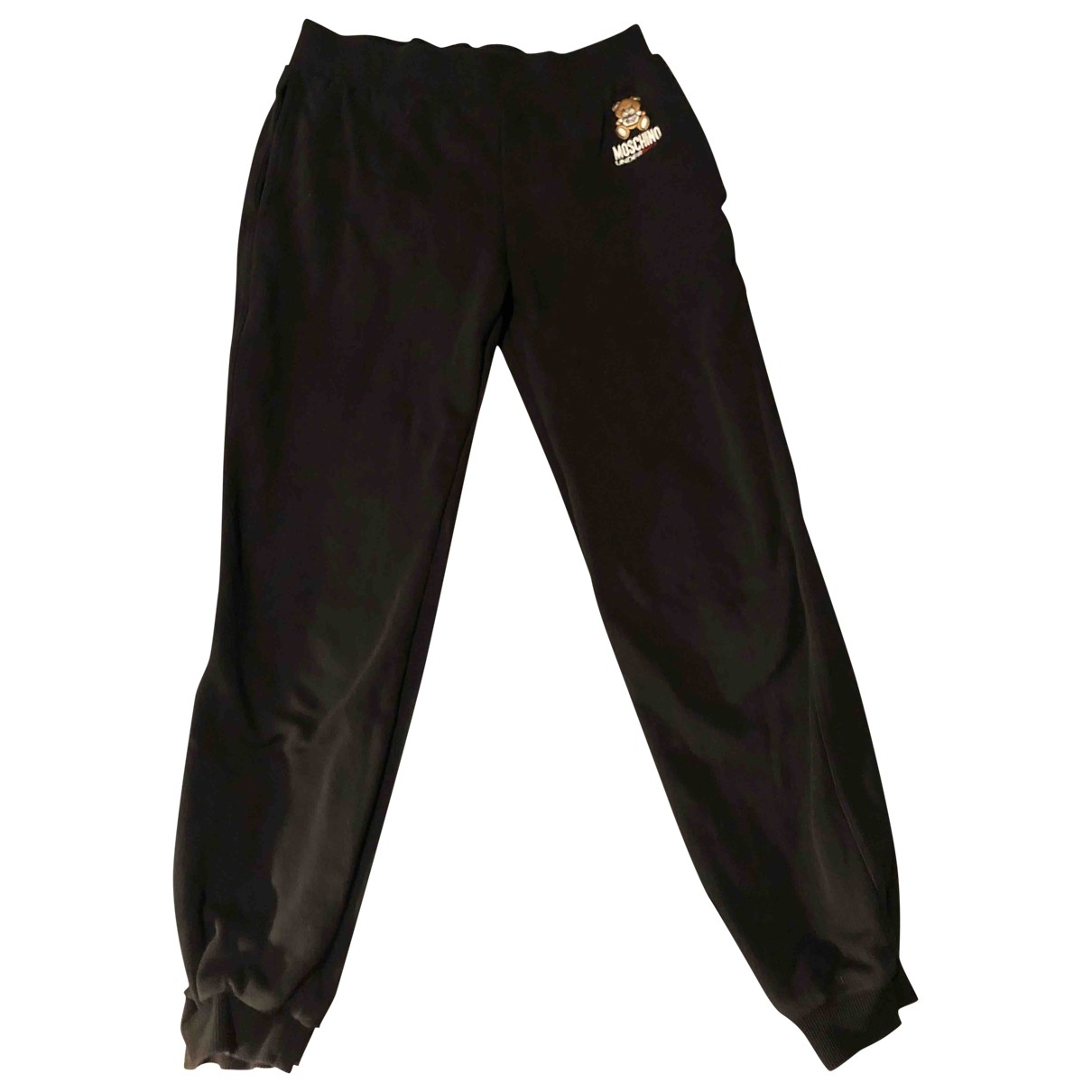 Moschino \N Black Cotton Trousers for Women S International