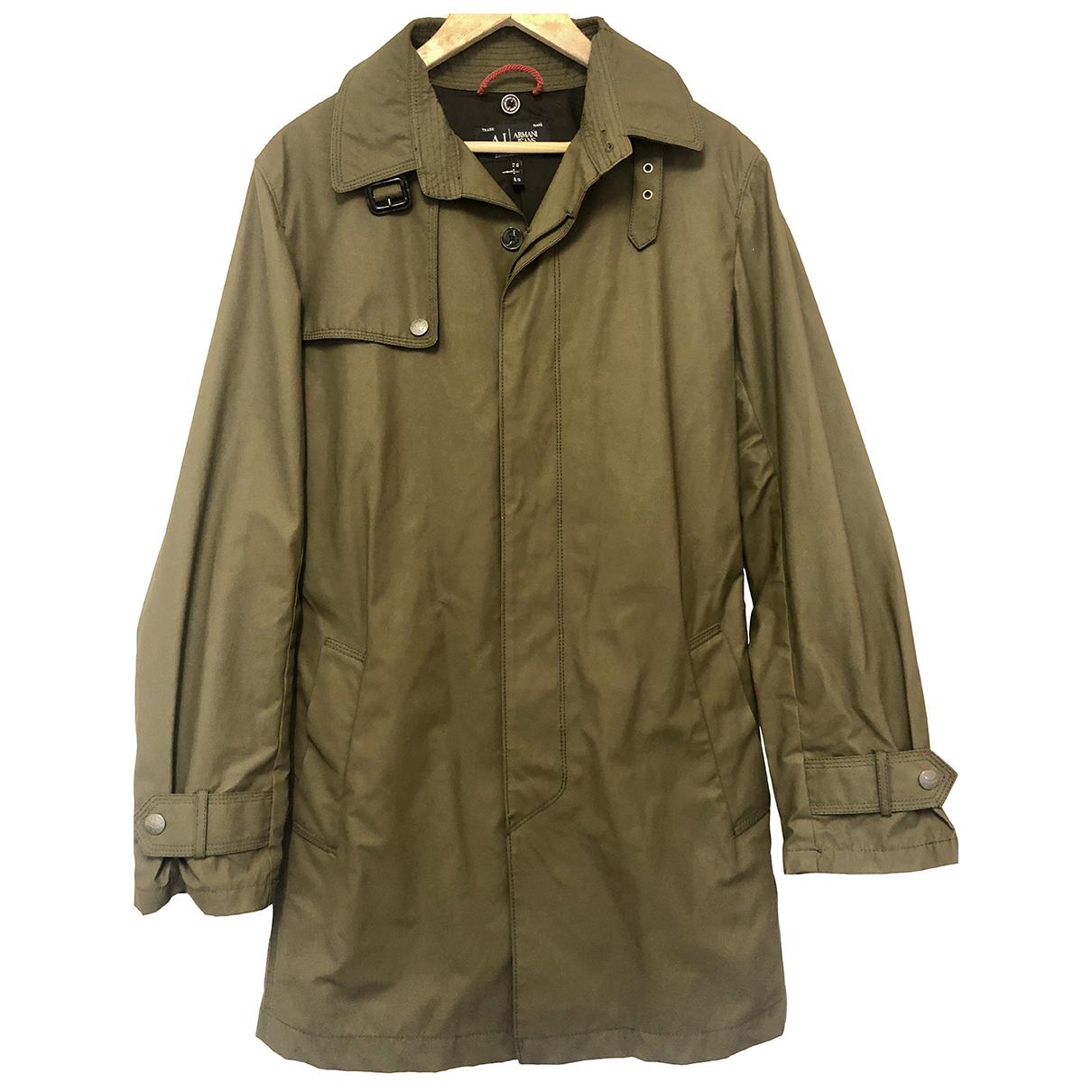 Emporio Armani \N Green coat  for Men 48 IT