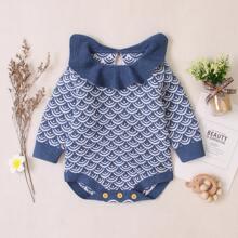 Baby Girl Scale Print Sweater Bodysuit