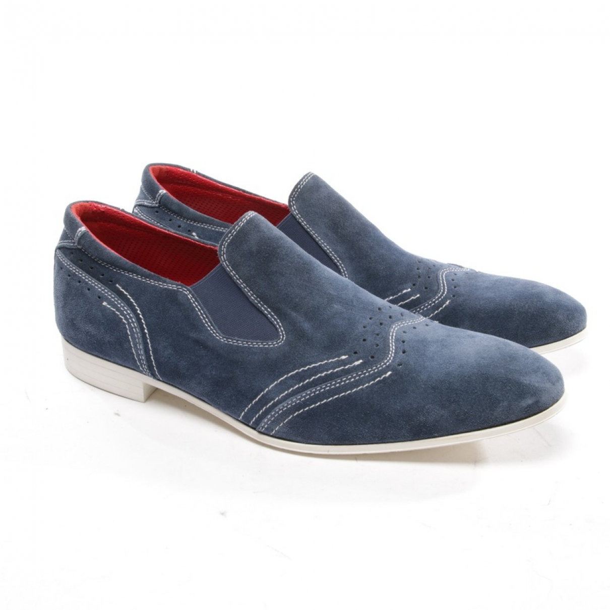Zilli \N Navy Suede Lace ups for Men 41 EU