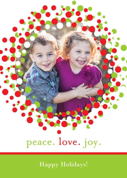 Christmas Photo Cards 5x7 Folded Cards, Standard Cardstock 85lb, Card & Stationery -Posh Paper Merry Wreath folded
