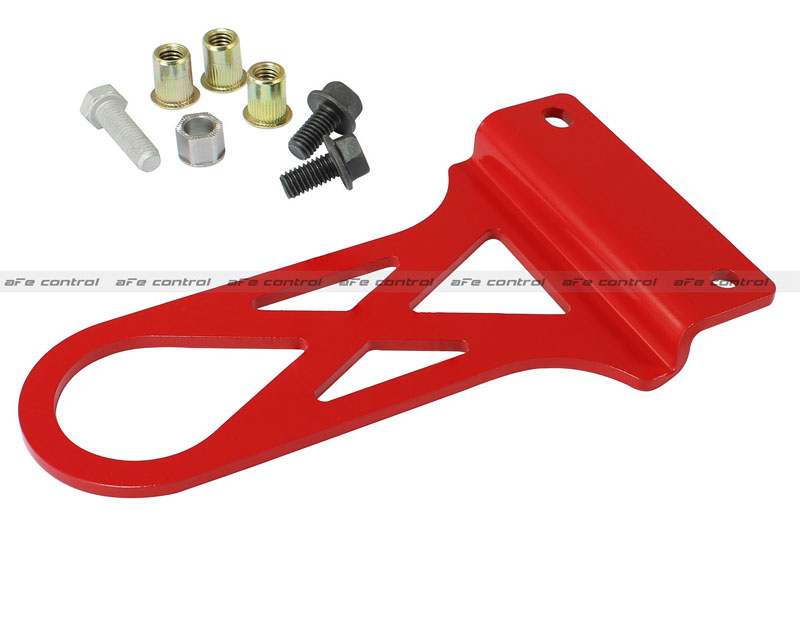 aFe Control PFADT Series Red Front Tow Hook Chevrolet Corvette C5 97-04