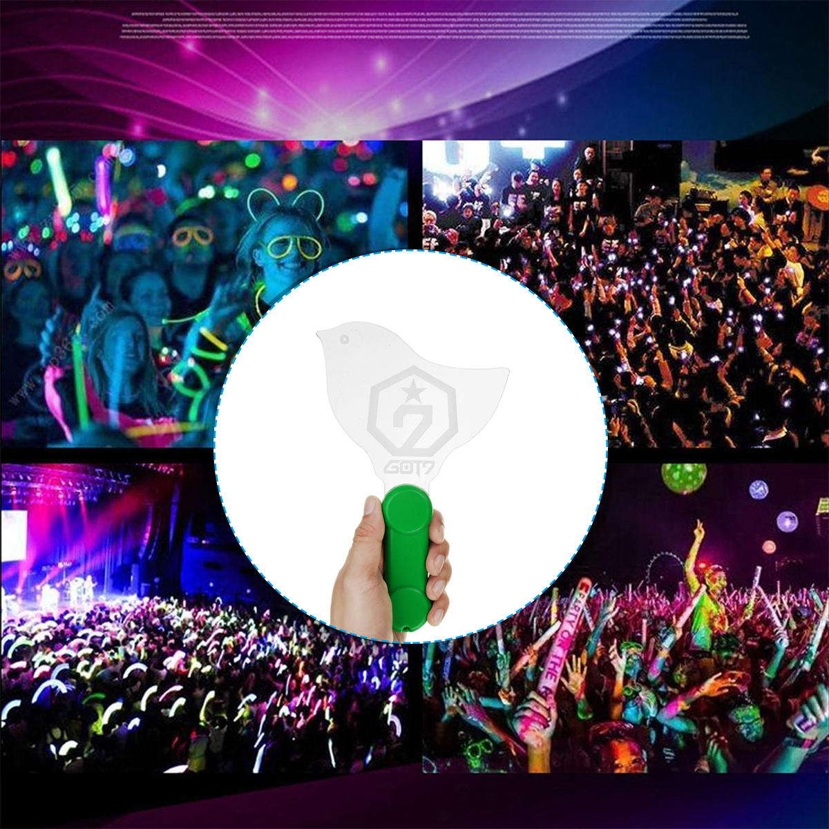 Vocal Concerts Glow Sticks LED Light Stick Party Wedding Magic Hot Camping Chemical Fluorescent Decorations