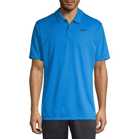 Nike Dri-Fit Essential Solid Mens Short Sleeve Polo Shirt, Xx-large , Blue