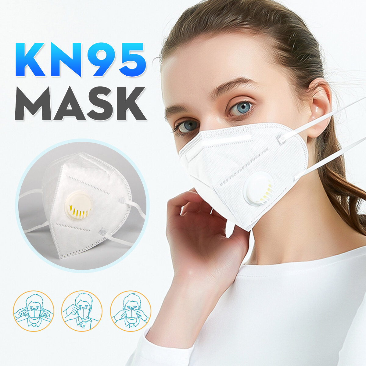 KN95 Masks With breathing valve Passed The GB-2626-KN95 Test PM2.5 Filter Protective Mask