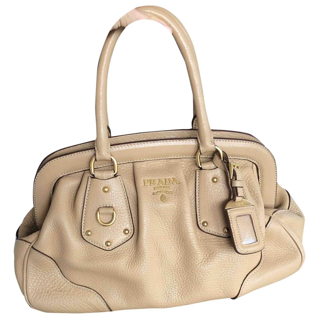 Prada \N Beige Leather Clutch bag for Women \N