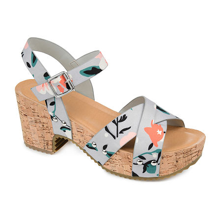Journee Collection Womens Valentina Pumps Block Heel, 10 Medium, Multiple Colors