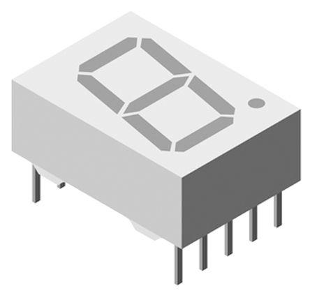 Vishay TDSR1060  7-Segment LED Display, CC Red 3.6 mcd RH DP 10mm (5)