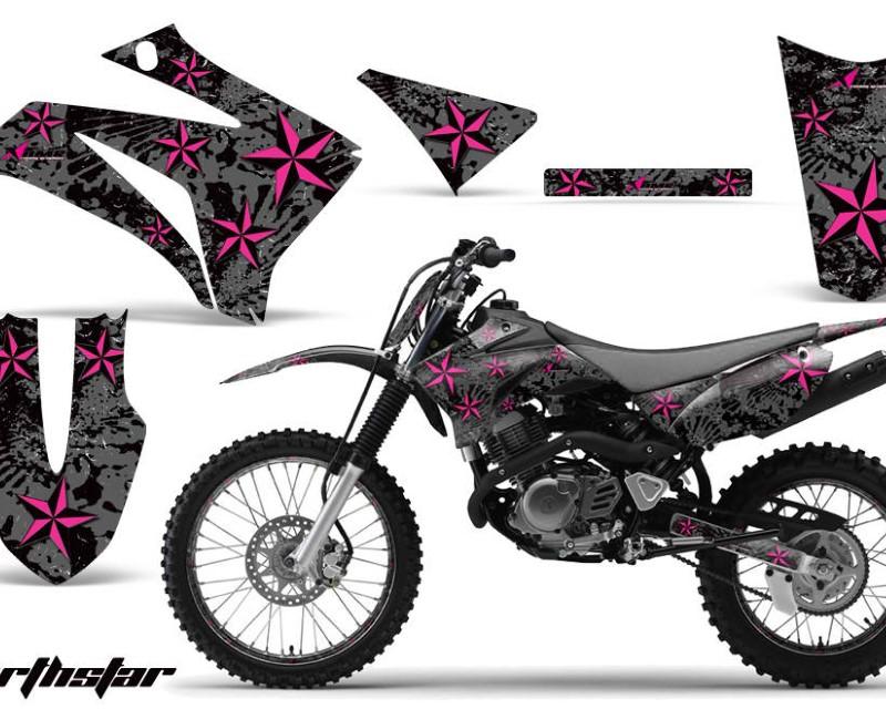 AMR Racing Graphics MX-NP-YAM-TTR125-08-18-NS P K Kit MX Decal Wrap + # Plates For Yamaha TTR125LE 2008-2018 NORTHSTAR PINK BLACK