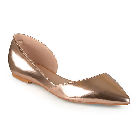 Journee Collection Womens Cortni D'Orsey Ballet Flats, 6 1/2 Medium, Pink
