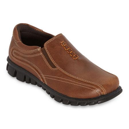 Arizona Little Kid/Big Kid Boys Randall Slip-On Shoe, 3 Medium, Brown