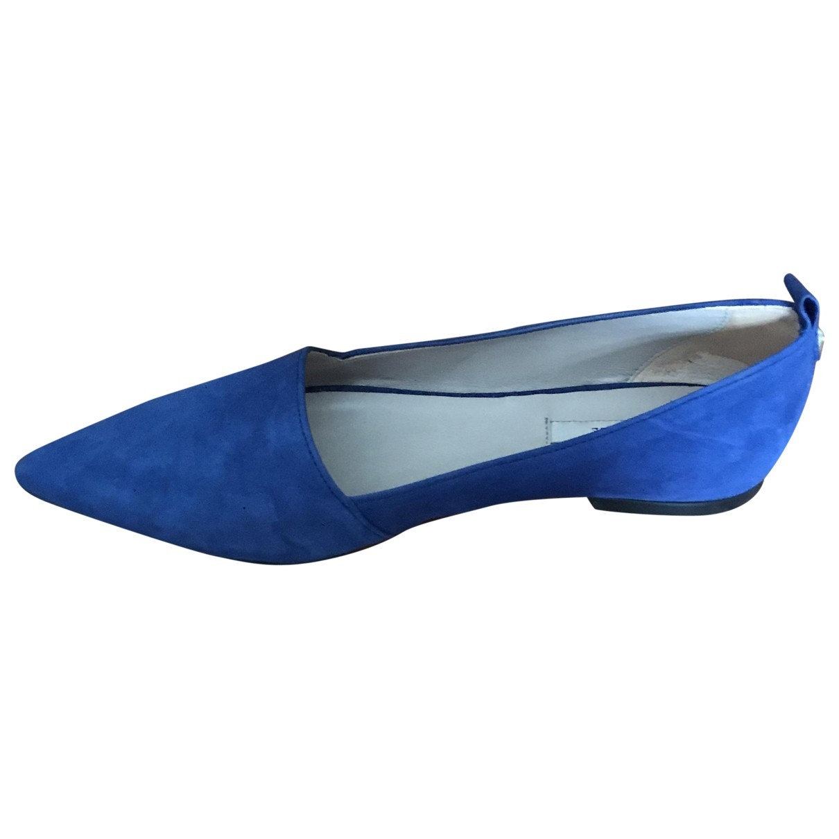 Uterque \N Blue Suede Ballet flats for Women 37 EU