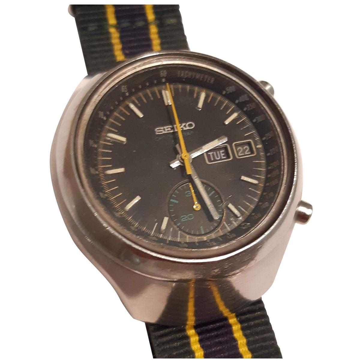 Seiko \N Silver Steel watch for Men \N