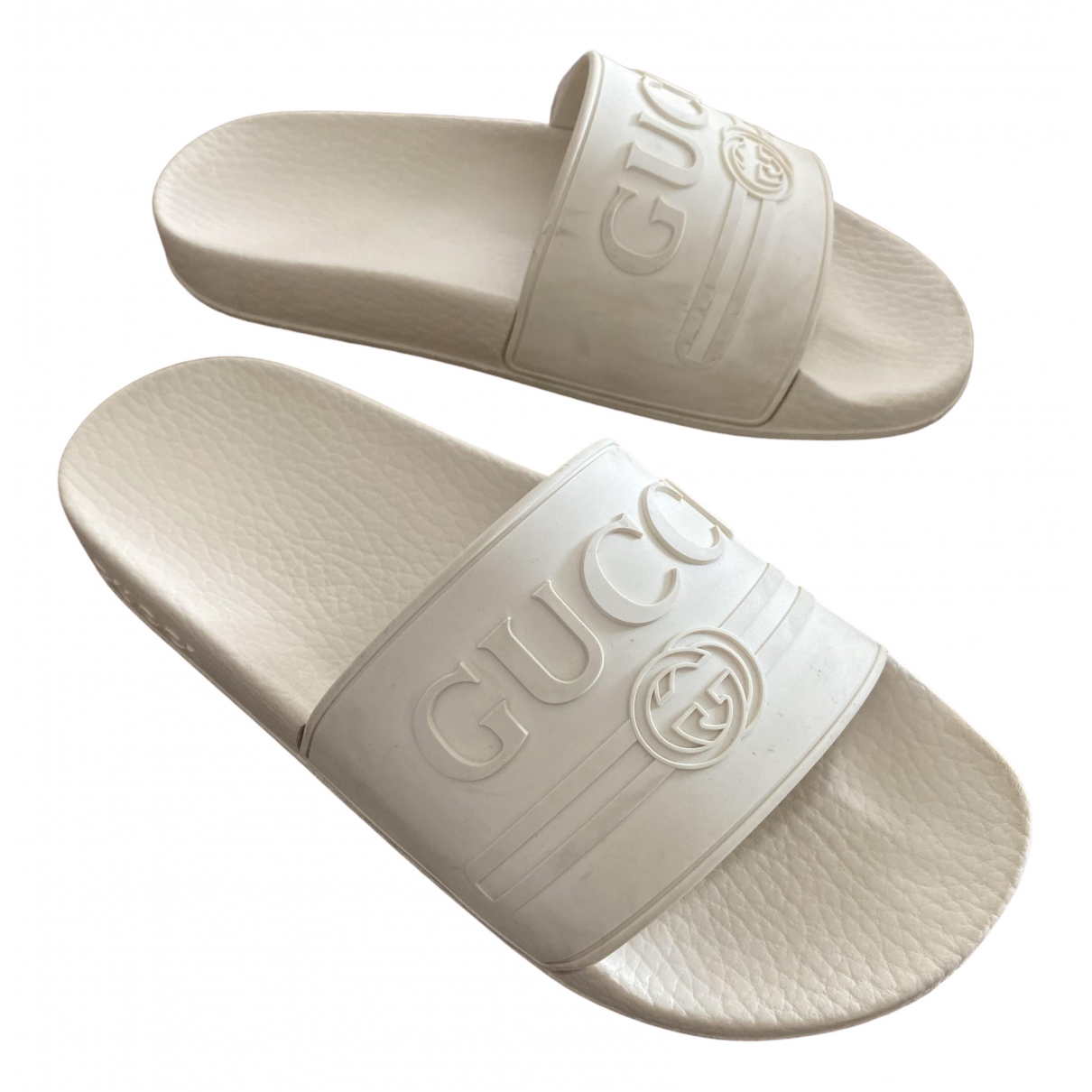 Gucci \N White Rubber Sandals for Women 36 EU