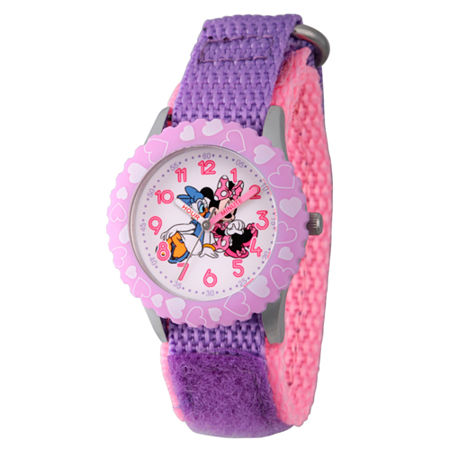 Disney Minnie Mouse Girls Purple Strap Watch-Wds000162, One Size , No Color Family