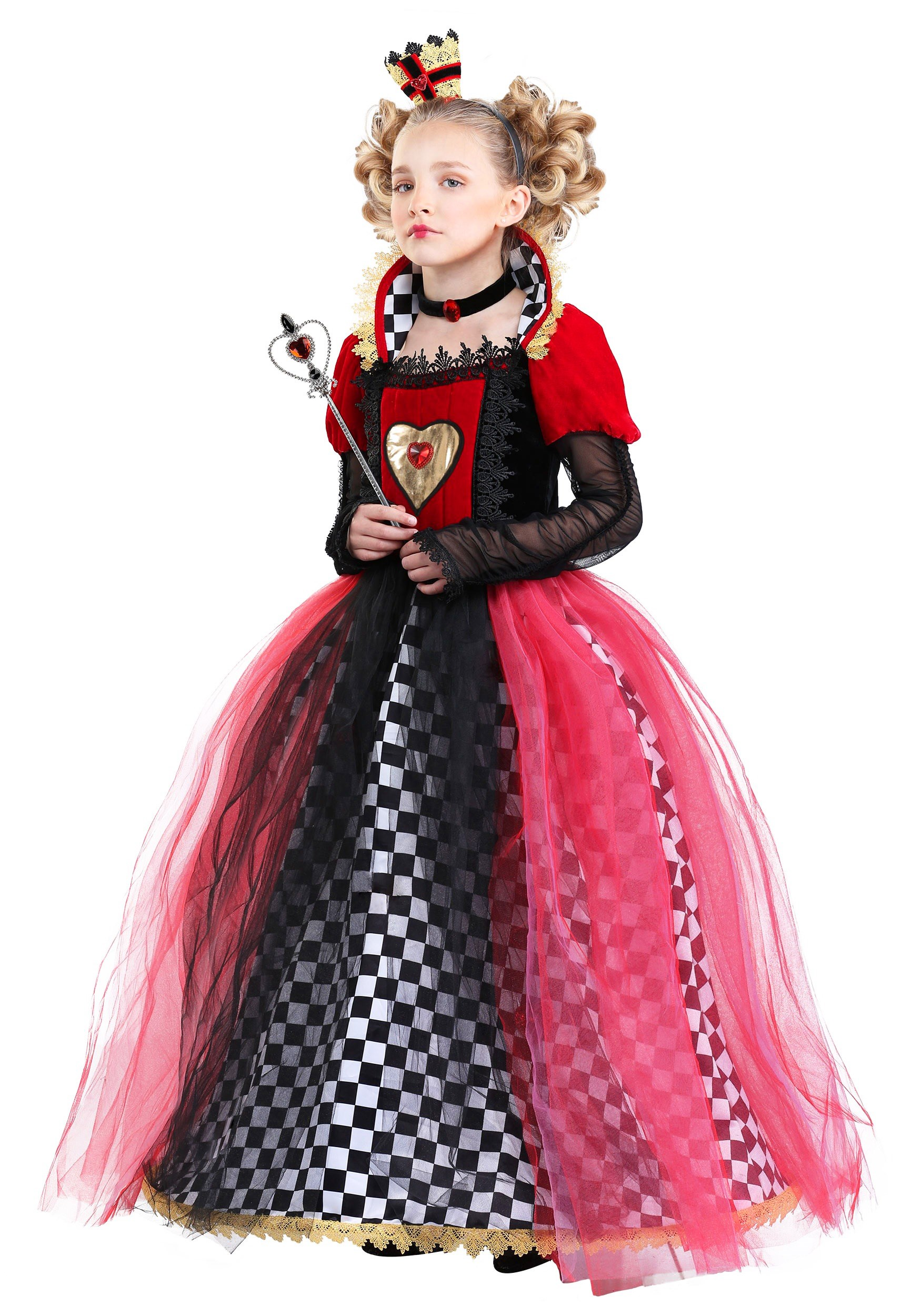 Ravishing Queen of Hearts Costume for Girl's