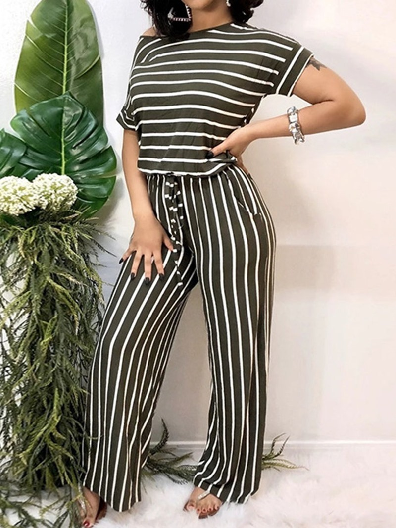 Ericdress Pocket Full Length Casual Slim Jumpsuit
