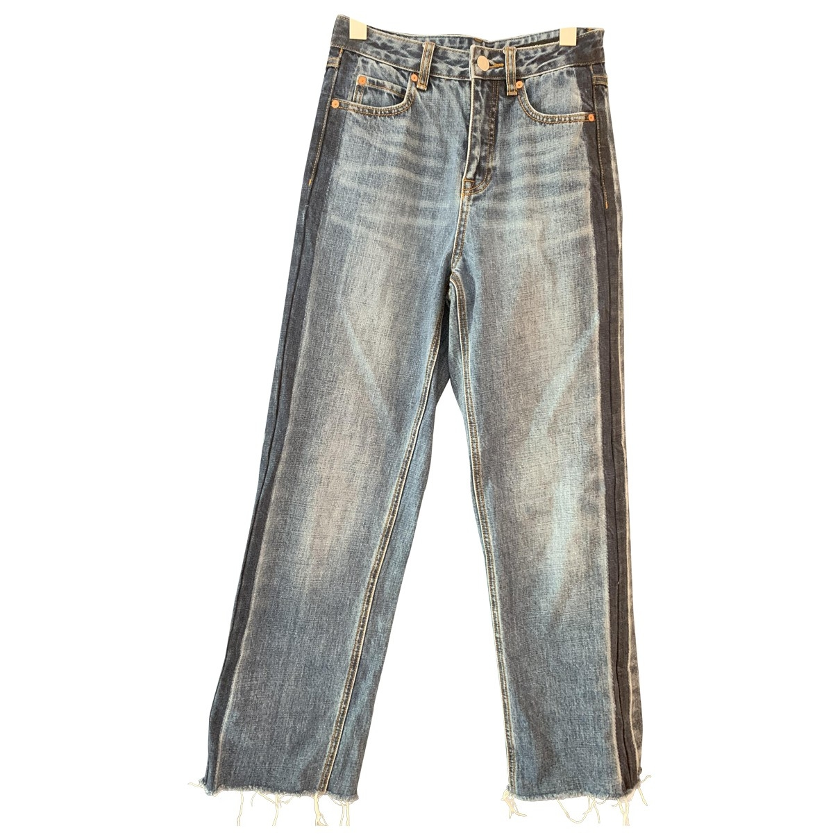 Mo&co \N Blue Cotton Jeans for Women 26 US