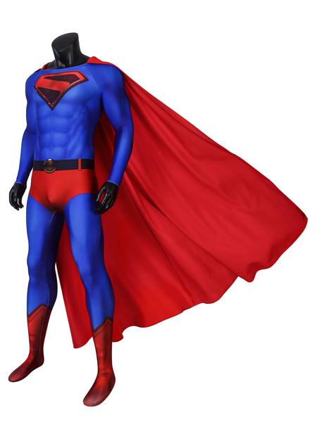 Milanoo DC Comic Crisis On Infinite Earths Clark Kent Superman Suit With Cape