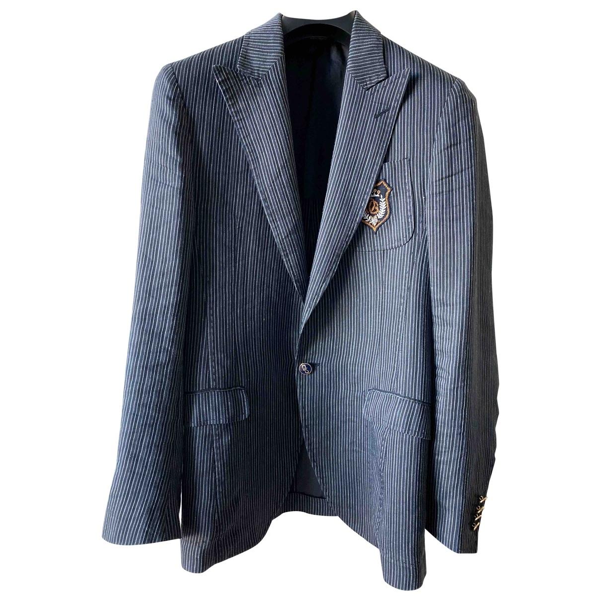 Dolce & Gabbana \N Navy Silk jacket  for Men 46 IT