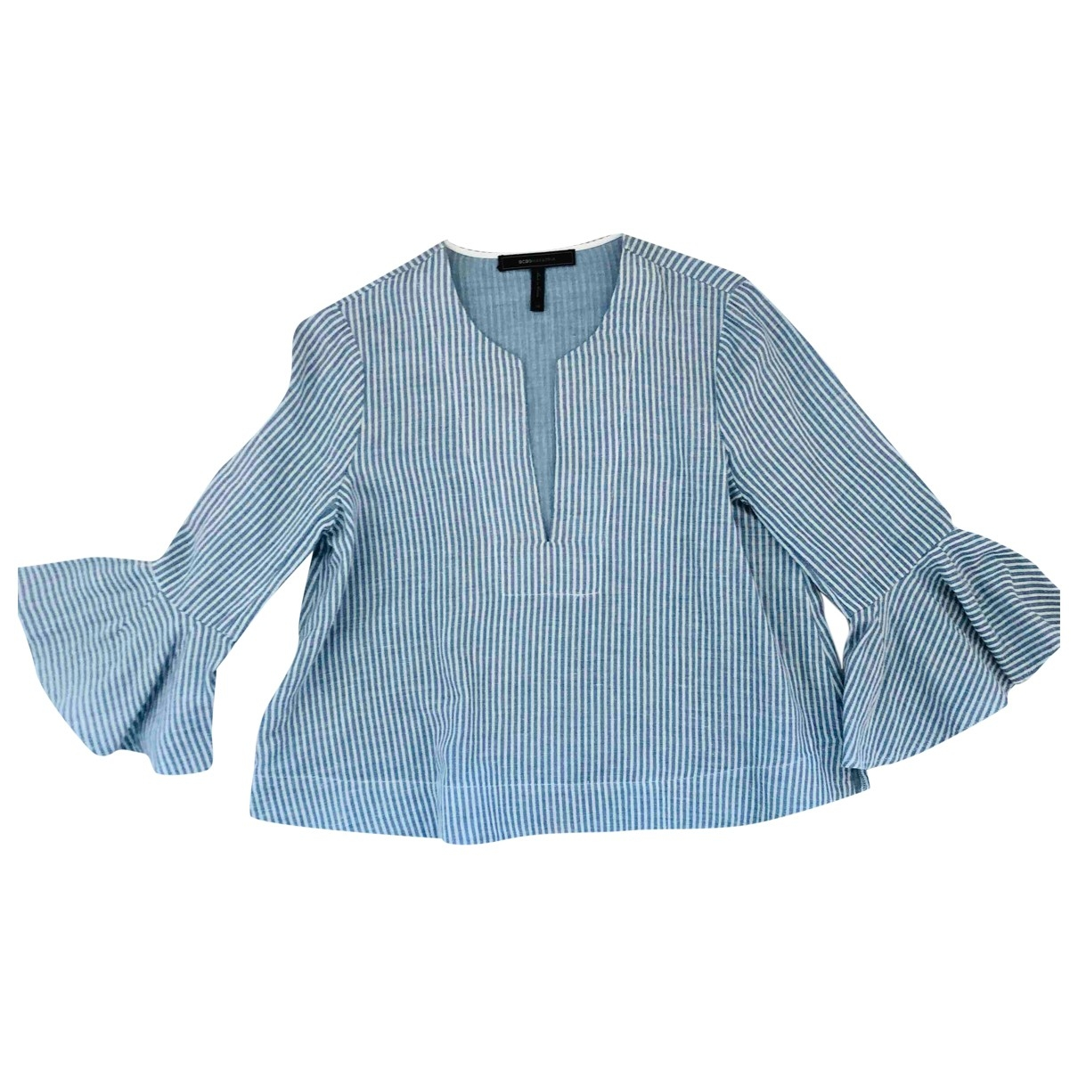 Bcbg Max Azria \N Blue Cotton  top for Women XS International