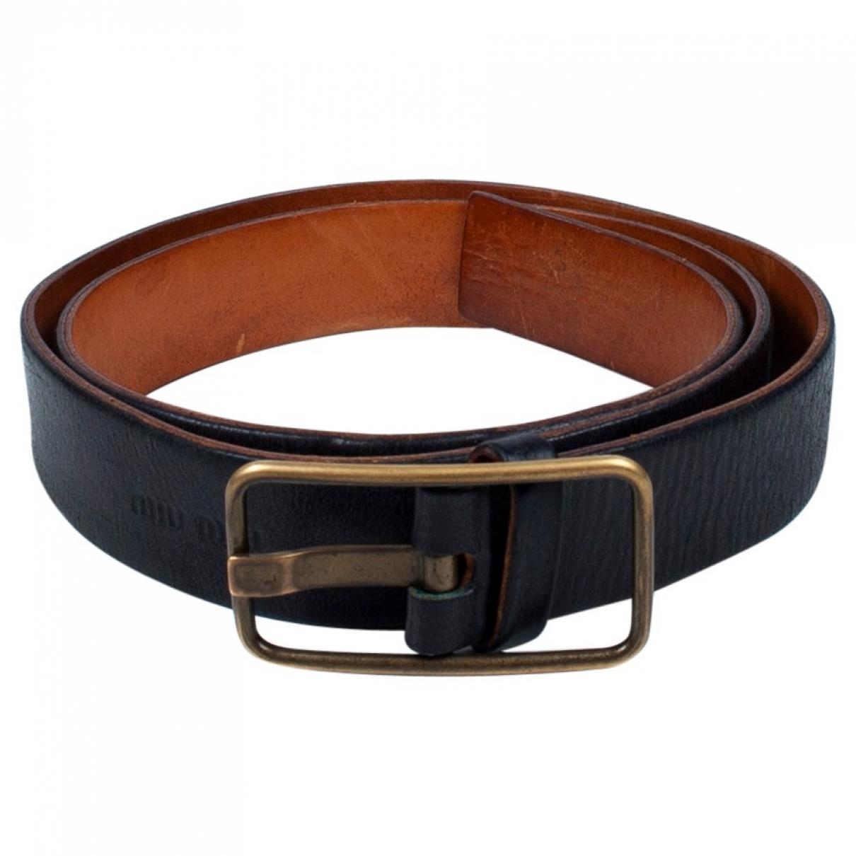 Miu Miu \N Black Leather belt for Men 90 cm