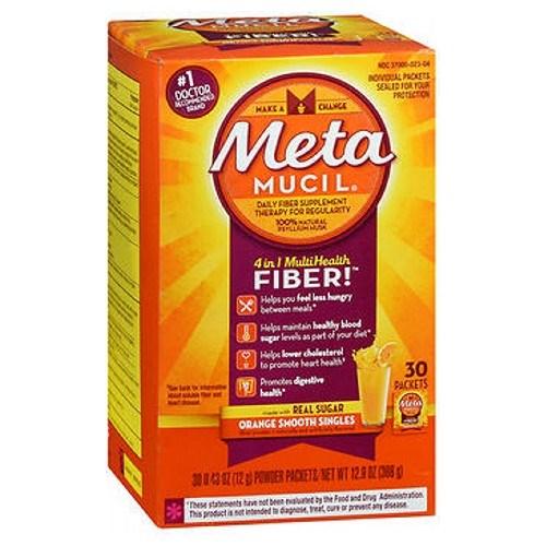 Metamucil Smooth Texture Orange Single Dose Packets 30 each by Metamucil
