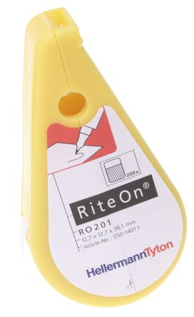 HellermannTyton Adhesive Cable Marking Kit RiteOn, 4 → 8.1mm, 200 Markers