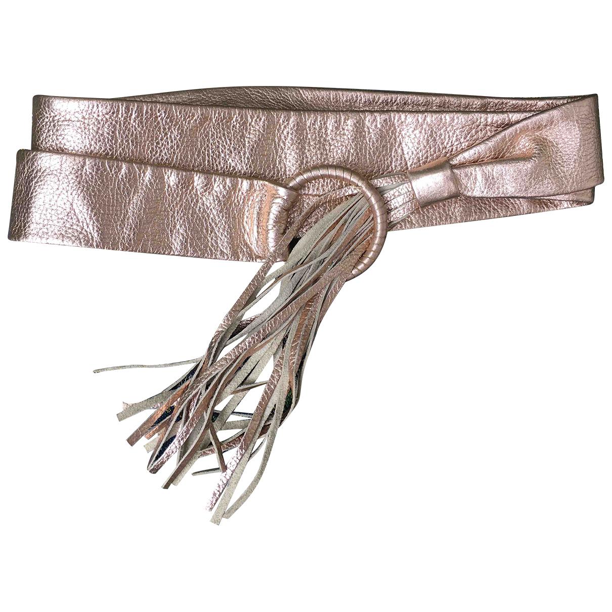 Jean Paul Gaultier \N Metallic Leather belt for Women 85 cm