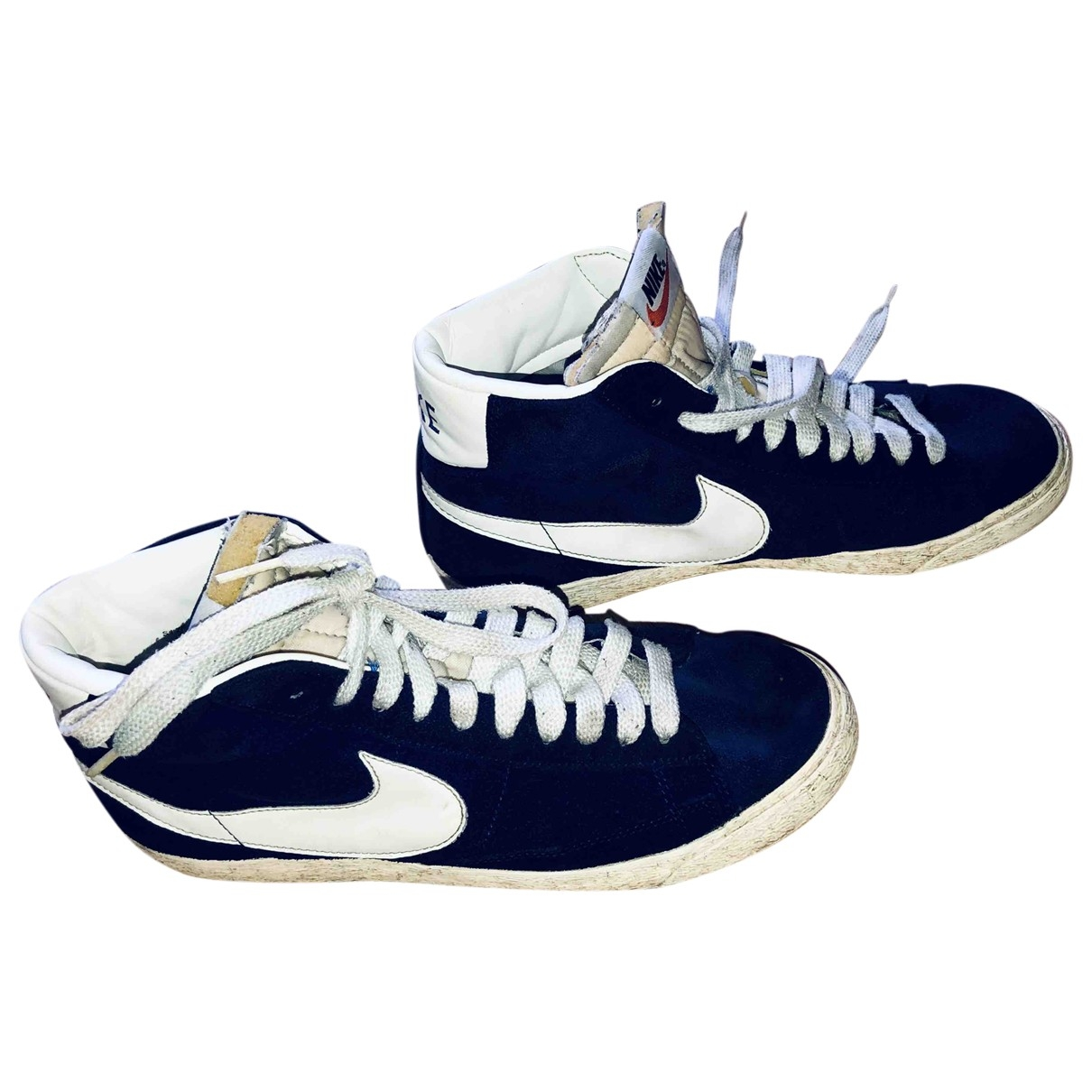 Nike Blazer Blue Leather Trainers for Men 42.5 EU