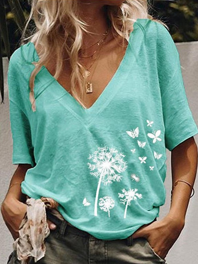 Ericdress Short Sleeve Standard Casual Loose T-Shirt