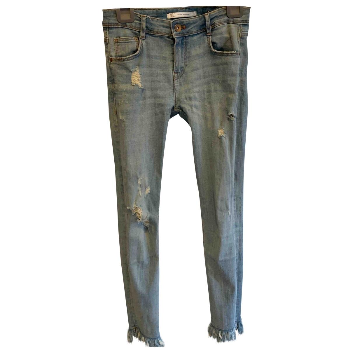 Zara \N Blue Denim - Jeans Jeans for Women 36 FR