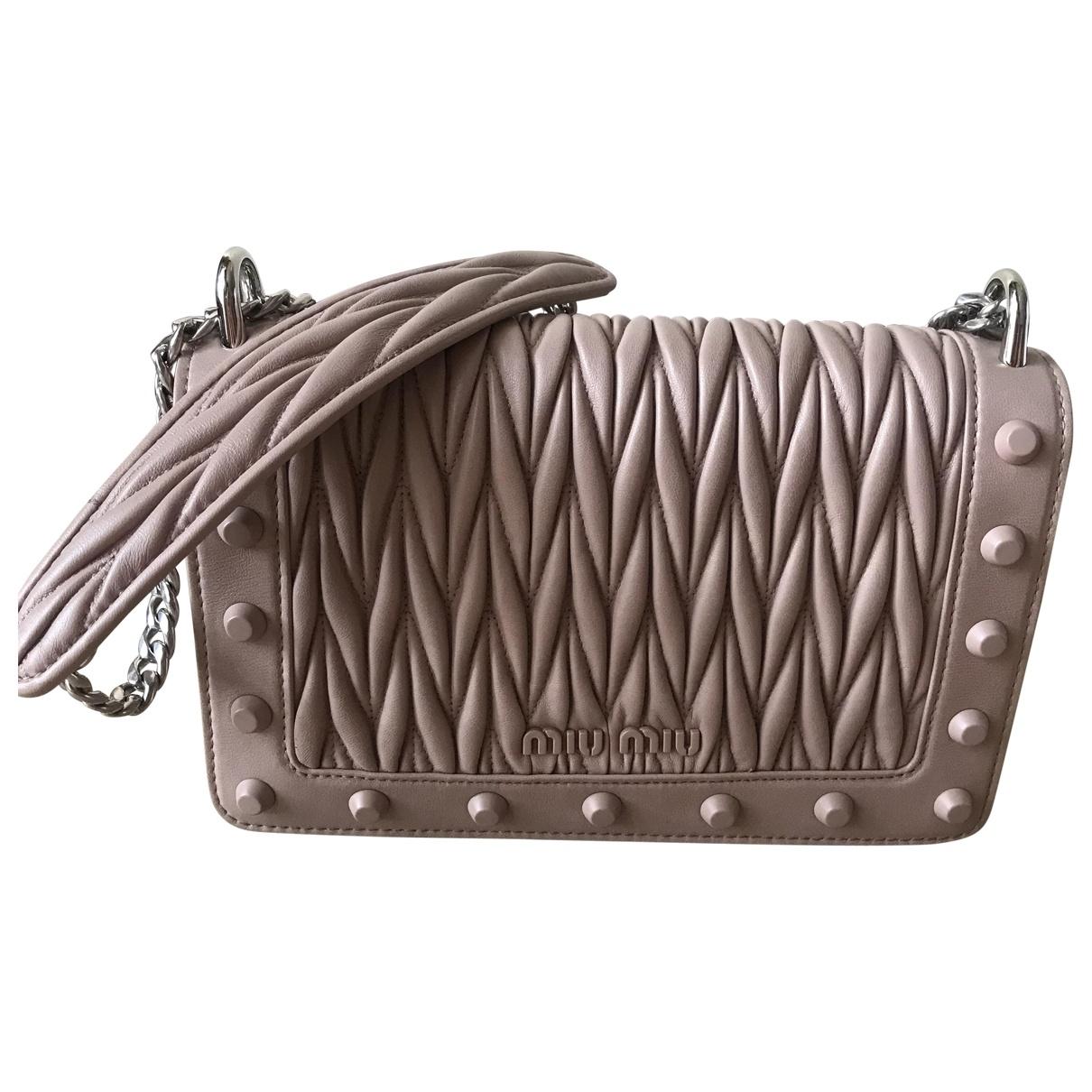 Miu Miu Matelassé Pink Leather handbag for Women \N
