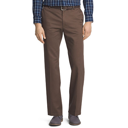 IZOD American Chino Mens Straight Fit, 30 30, Brown