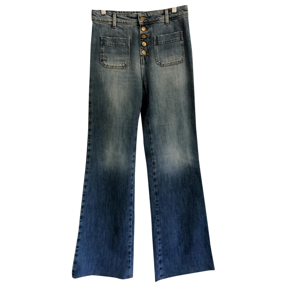 Ba&sh \N Blue Cotton Jeans for Women 38 FR