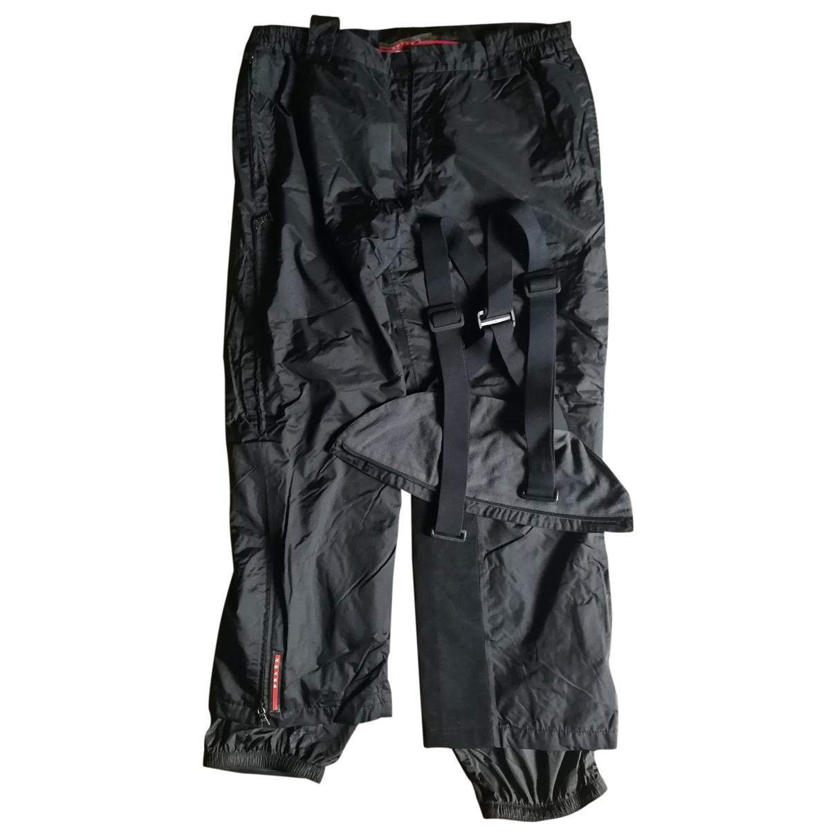 Prada \N Black Trousers for Men 56 IT