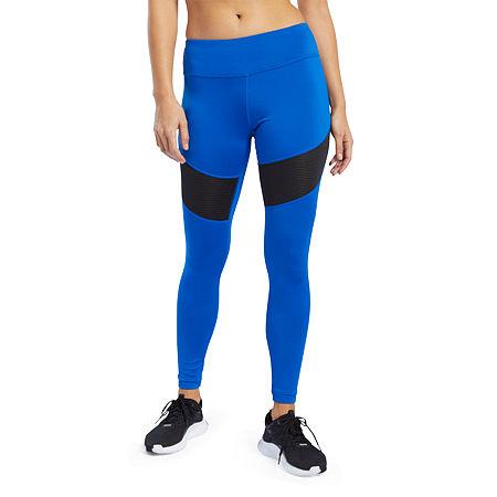 Reebok Womens Mid Rise Legging, Medium , Blue