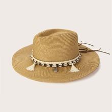 Tassel & Shell Decor Straw Hat