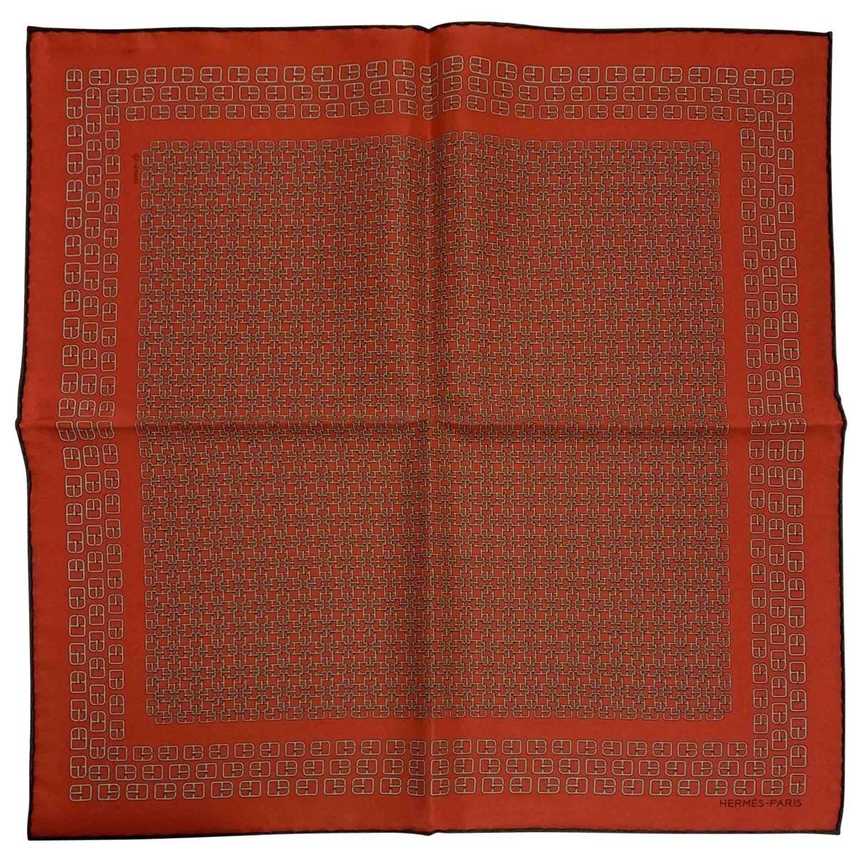 Hermès \N Red Silk scarf & pocket squares for Men \N