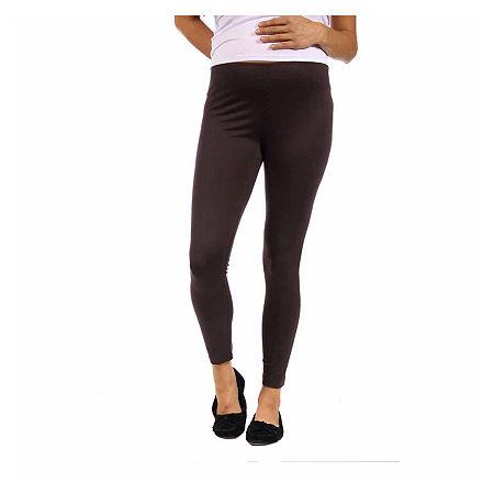 24/7 Comfort Apparel-Maternity Womens Legging, Small , Brown