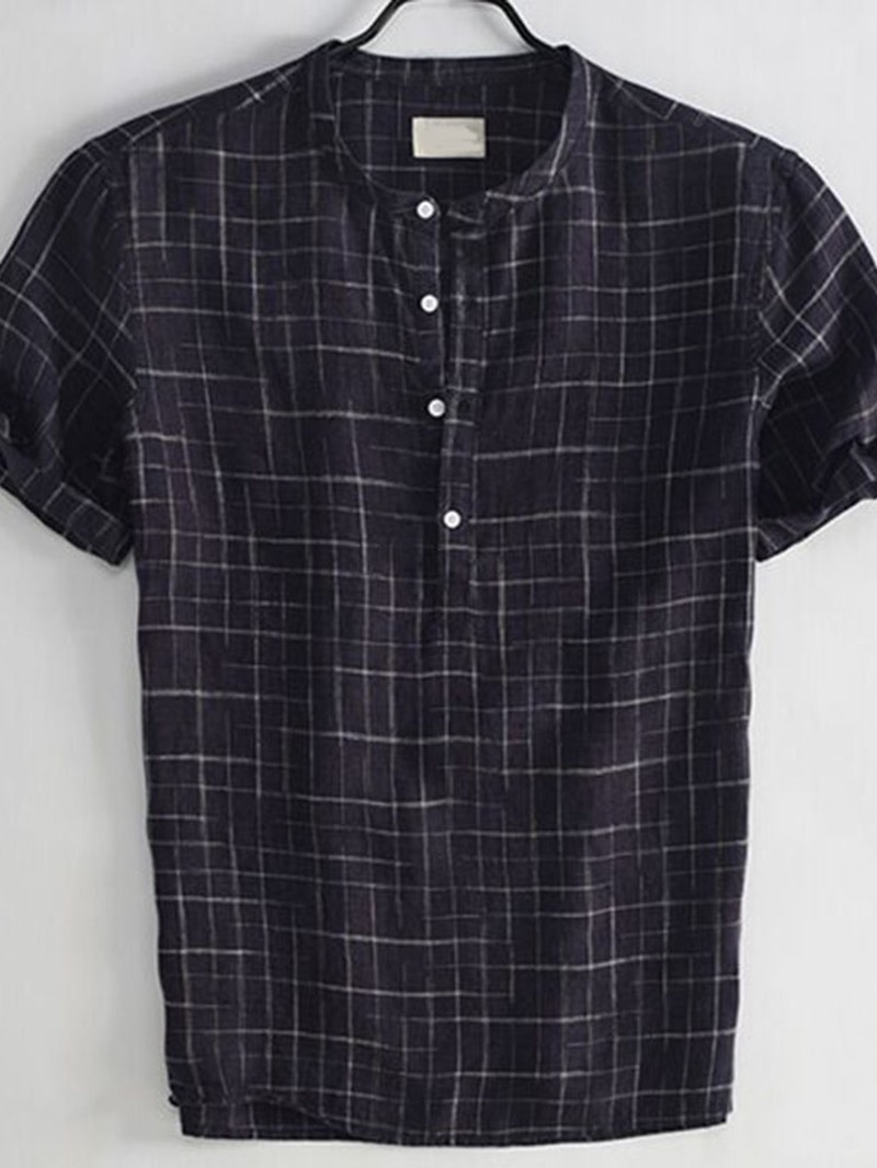 Ericdress Casual Plaid Summer Loose Shirt