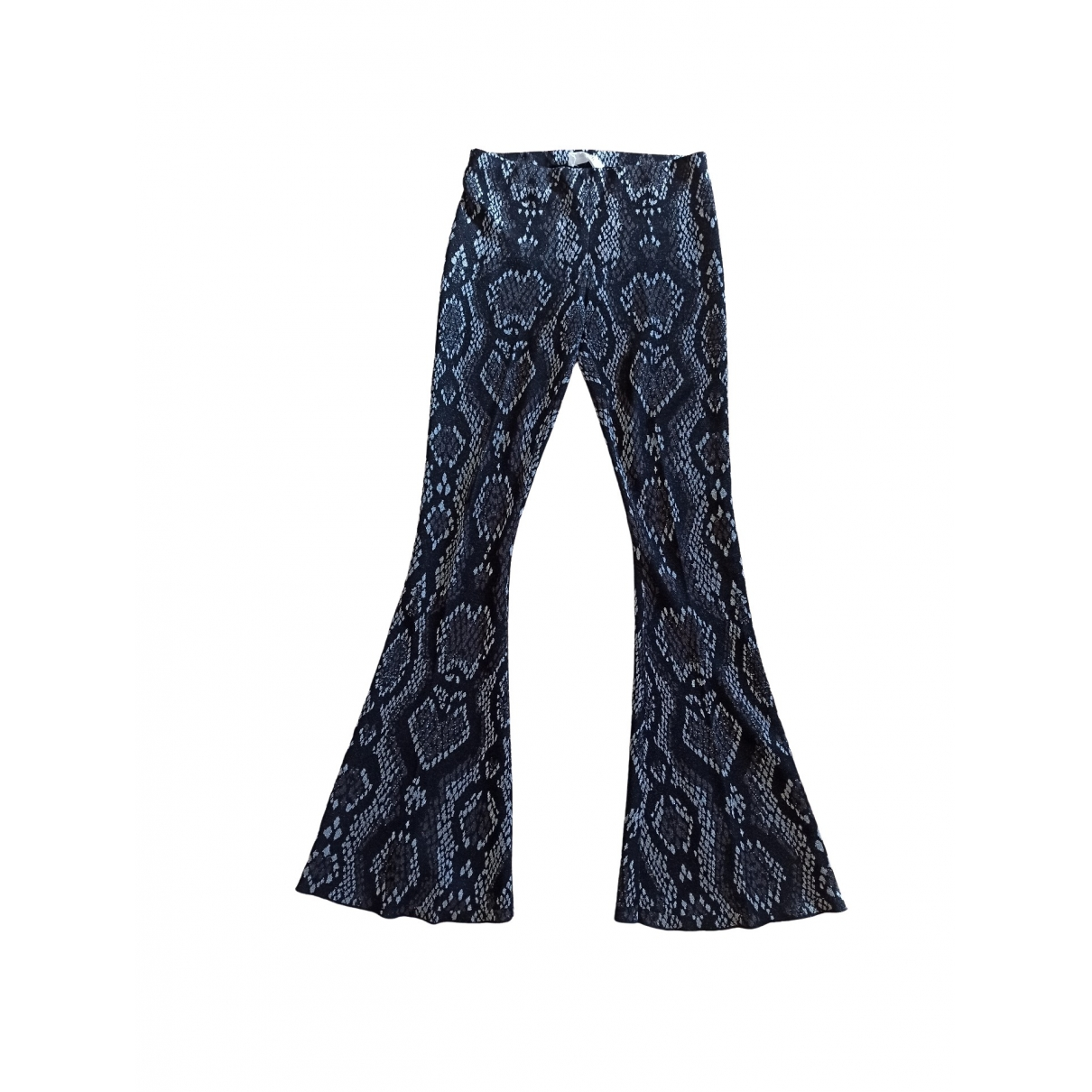 Circus Hotel \N Blue Cotton Trousers for Women 44 IT