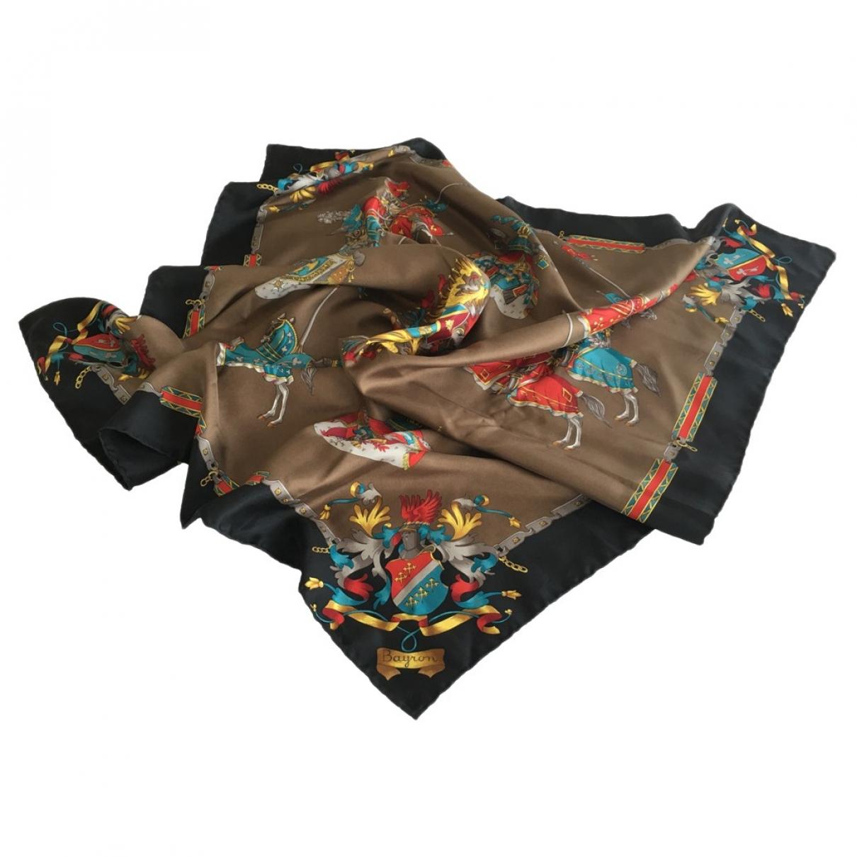Non Signé / Unsigned \N Brown Silk Silk handkerchief for Women \N