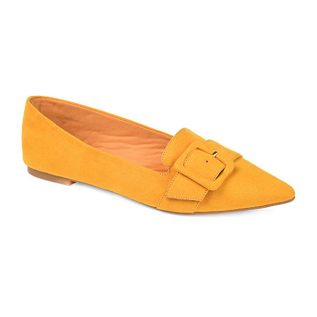 Journee Collection Womens Audrey Slip-on Pointed Toe Loafers, 6 Medium, Yellow