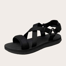 Guys Cross Strap Slingback Sandals