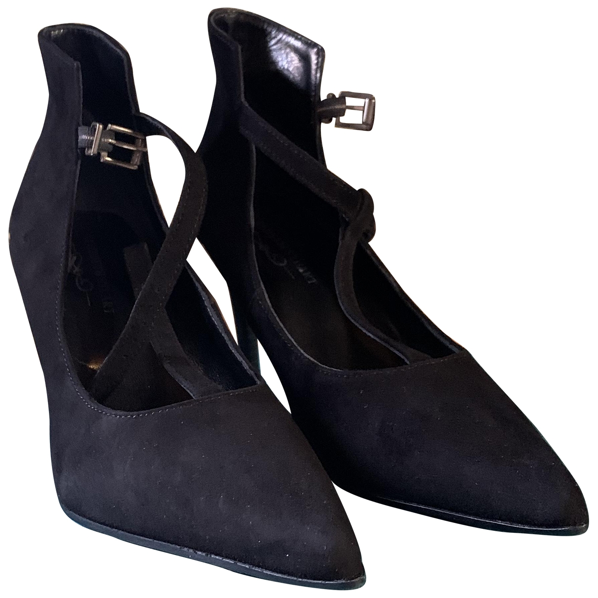 Elisabeth Stuart \N Black Exotic leathers Heels for Women 37 EU