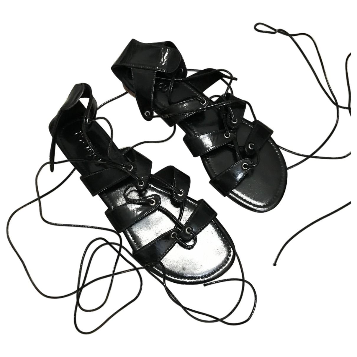 Mystique \N Black Leather Sandals for Women 9 US